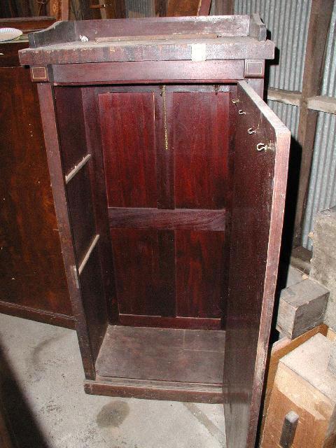 Delicieux 40 Combination Coat Closet U0026 Cue Rack, Vintage Antique