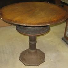 Antique octagonal base billiards pub table