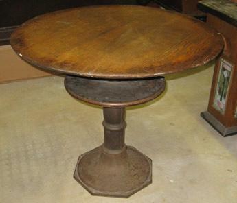Great Antique Octagonal Base Billiards Pub Table