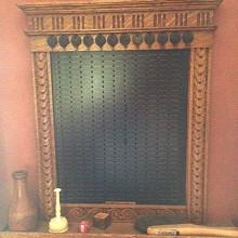 Antique wood pin pool board