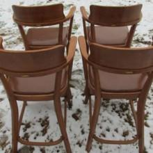 Brunswick Sportsman billiard observation chairs, antique