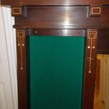 Antique Brunswick Wall Mount Cue Rack No. 33 - Fully Restored by Billiard Restoration Service