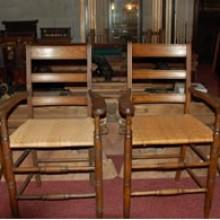 1870's antique billiard observation chairs