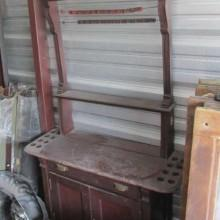 Antique Dentil Cabinet II, before the restoration process