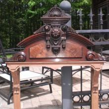 Top of antique Eastlake Cue Rack