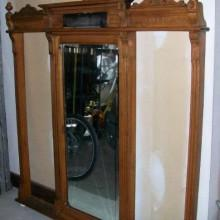 Antique Mirrored National Cue Rack