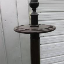 Top of Antique Rosewood Free Standing Cue Rack