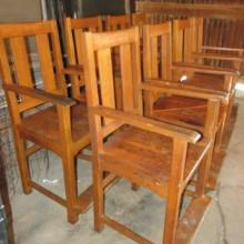 Antique Phoenix Billiard Observation Chairs (side view)