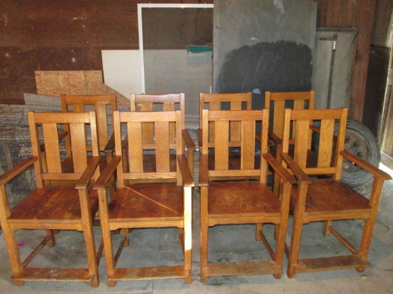 Set Of Antique Phoenix Billiard Observation Chairs