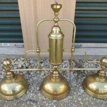 Antique brass billiard light