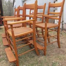 Antique observation chairs (maple) for billiards