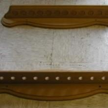 During restoration, an antique cue rack