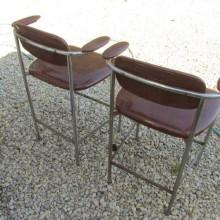 Back view of mid-century billiard chairs