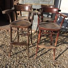 4 Bentwood billiard chairs for restoration
