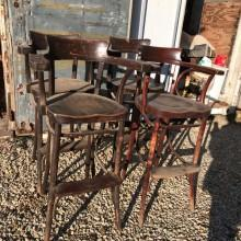 Ready for restoration: 4 antique Bentwood Billiard Chairs