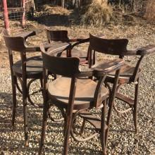 Bentwood billiard chairs (antique) ready for restoration