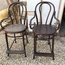 Antique Short Bentwood Billiard Chairs, for sale