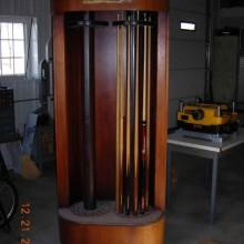 Double Spindle Rotating Cue Rack for sale