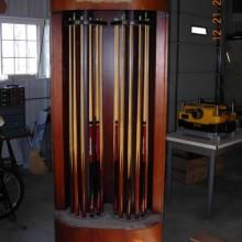 For sale: Antique Double Spindle Rotating Cue Rack