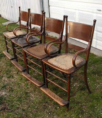 Antique pool 1890 39 s observation chairs for Poolside table and chairs