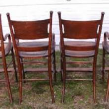 Restored, antique pool table observation chairs from 1890