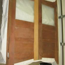 Antique 1920s Birch Saloon Doors