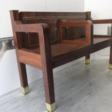 Corner angle view of Arcade or Kling billiards bench