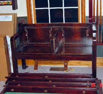 ... Antique Arcade Or Kling Billiard Bench ...