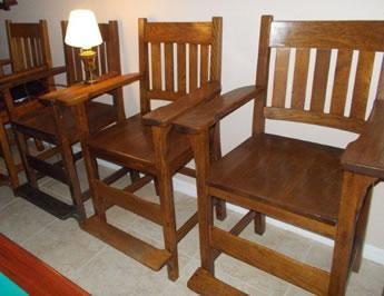 Antique Arts/Crafts Billiard Observation Chairs ...
