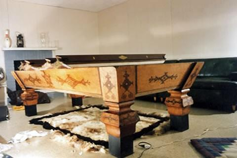 The Eclipse - Antique billiard table done wrong