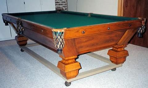 The Challenge - Antique billiard table done wrong