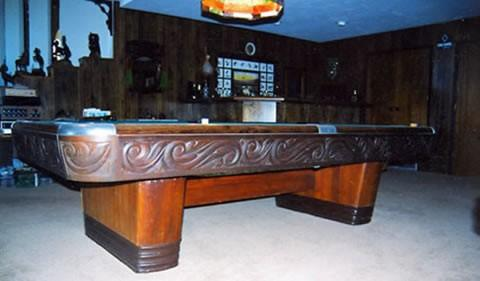 The Centennial - Antique billiard table done wrong