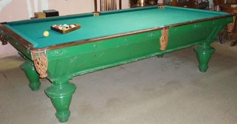 The Narragansett - Antique billiard table done wrong