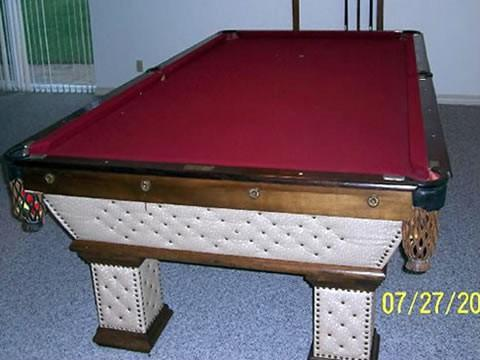 Antique pool table done wrong, The Wellington