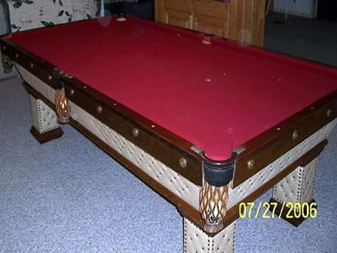 The Wellington - Antique billiard table done wrong