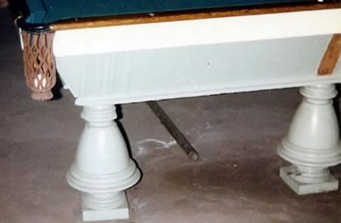 The Naragansett - Antique pool table done wrong