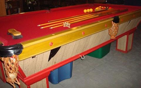 Hall of shame pool table