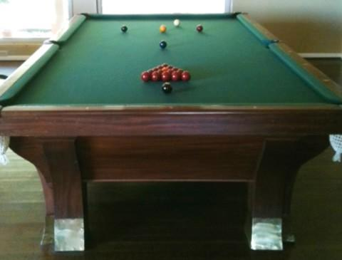 Damaged pool table - Brunswick Rochester
