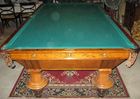 Antique billiards table damaged table done wrong