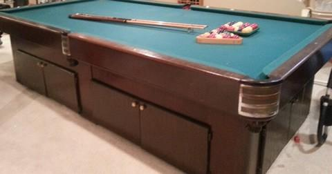 Antique Billiard Table Done Wrong ...