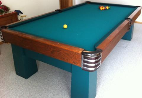 Antique billiard table done wrong - Brunswick Challenger