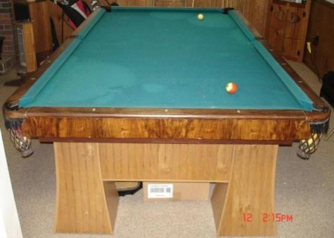 Antique billiard table done wrong