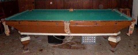 Antique O.G. Novelty billiard table done wrong