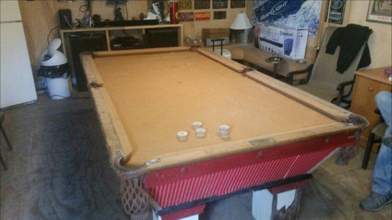 Brunswick Wellington - Antique pool table done wrong