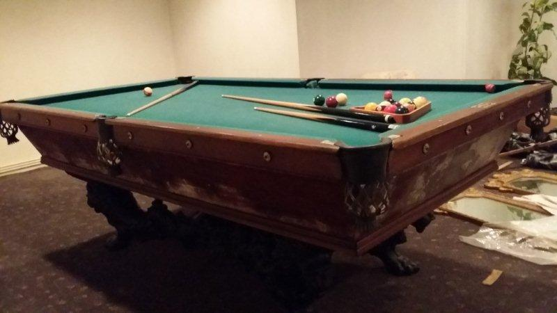 The Wellington 2 - Antique billiard table done wrong