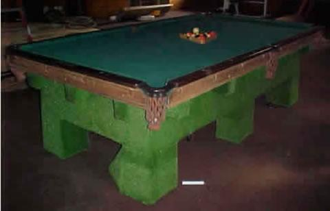 The Delray - Antique billiard table done wrong
