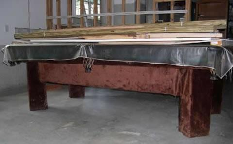 The Chateau - Antique billiard table done wrong