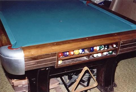 The Pfister/Anniversary - Antique billiard table done wrong