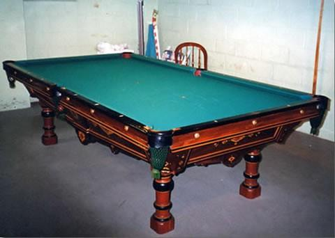 The Monarch - Antique billiard table done wrong