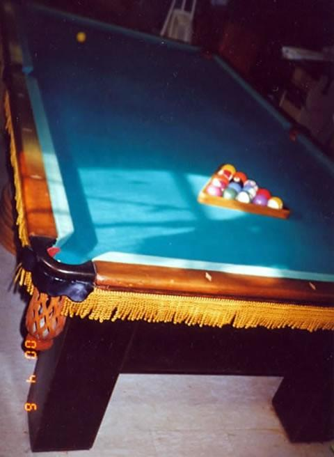 The Madison - Antique billiard table done wrong